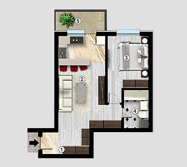 Apartament 2 camere Confort Urban Residence