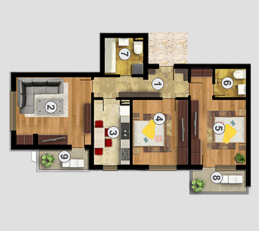Apartament 3 camere Confort Urban Residence